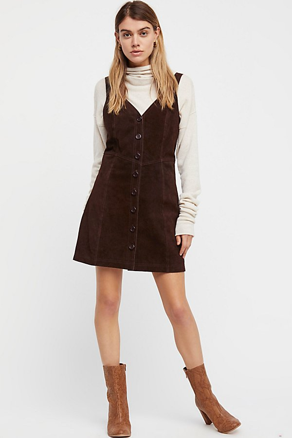 Slide View 1: Abbie Suede Mini Dress