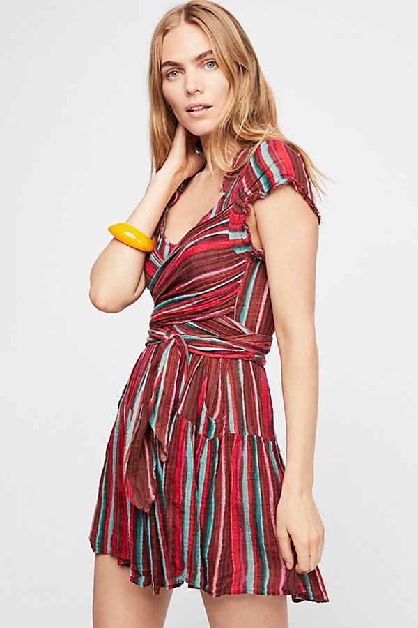 Slide View 1: FP One Maia Striped Wrap Mini Dress