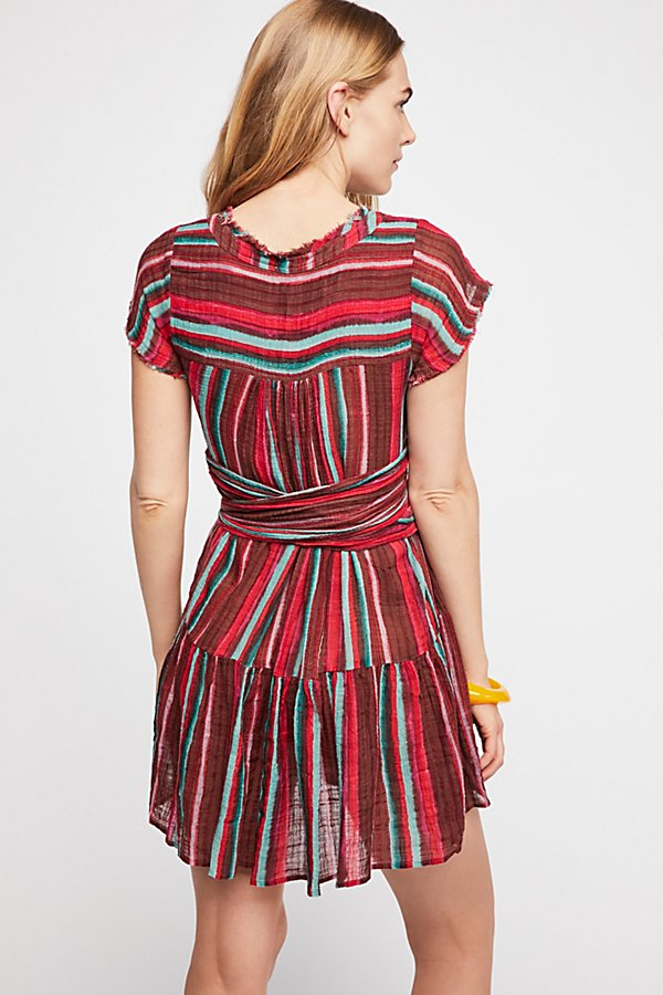 Slide View 2: FP One Maia Striped Wrap Mini Dress