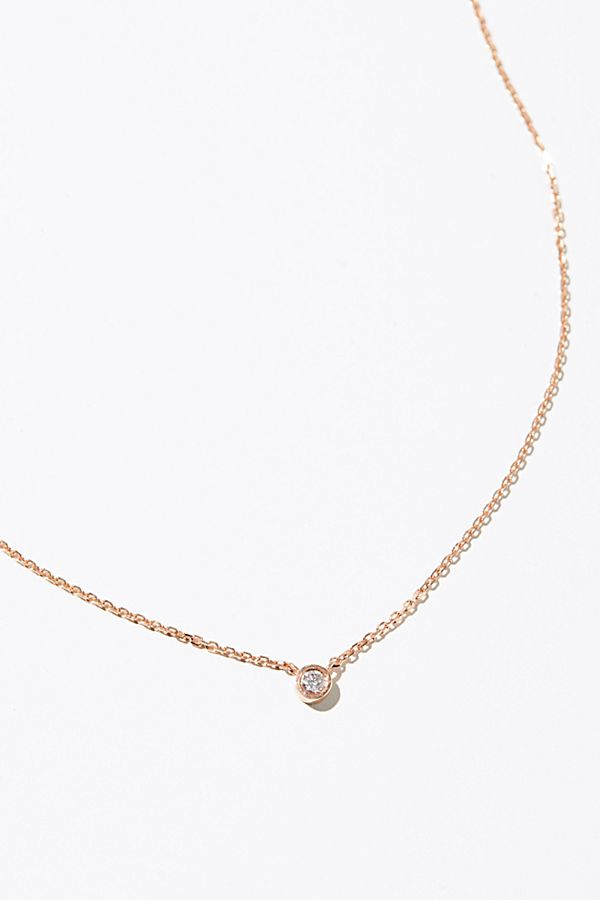 14k tiny diamond necklace free people mozeypictures Image collections