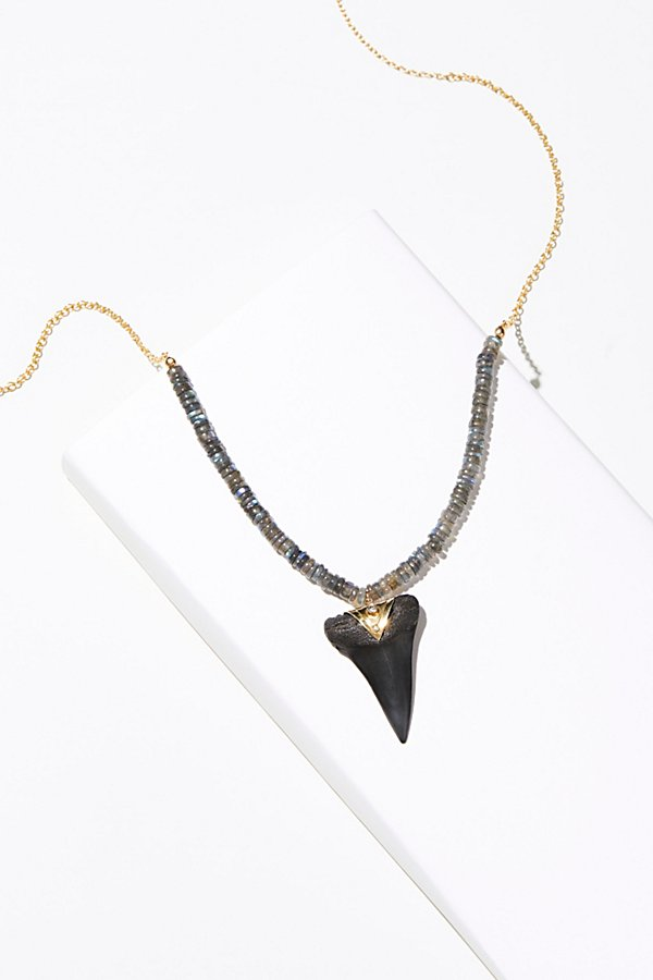 Slide View 1: Deep Sea Fossilized Stone Necklace