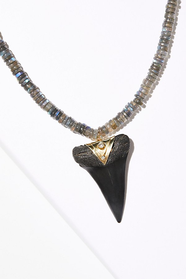 Slide View 2: Deep Sea Fossilized Stone Necklace