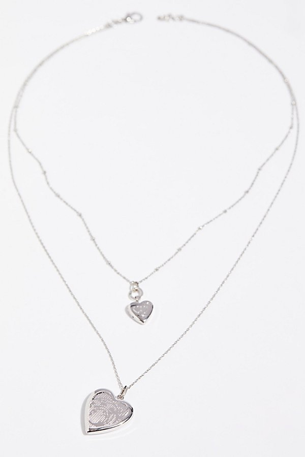 Slide View 3: Double Locket Necklace