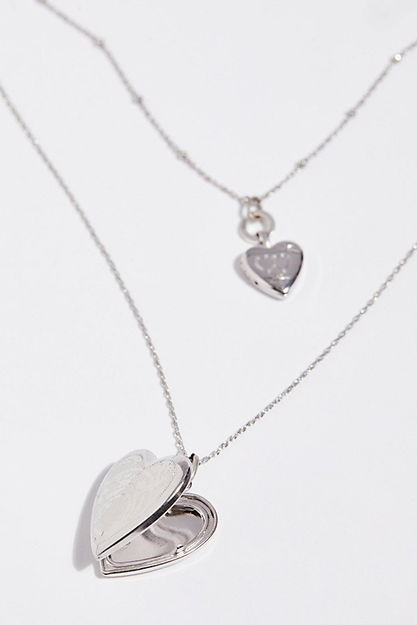 Slide View 4: Double Locket Necklace