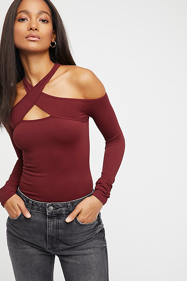 Slide View 1: Seamless Wrap Neck Top