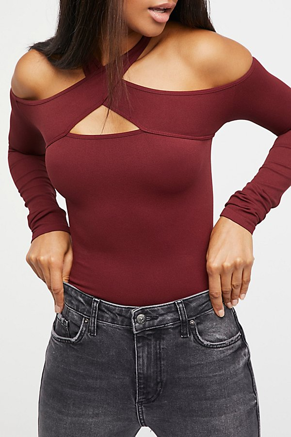 Slide View 3: Seamless Wrap Neck Top
