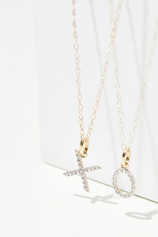 14k diamond initial necklace free people slide view 1 14k diamond initial necklace aloadofball Gallery