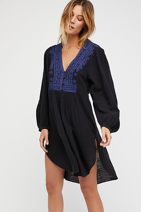 Slide View 1: Higher Ground Maxi Embroidered Top