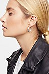Thumbnail View 2: Classic Tube Hoop Earring Set