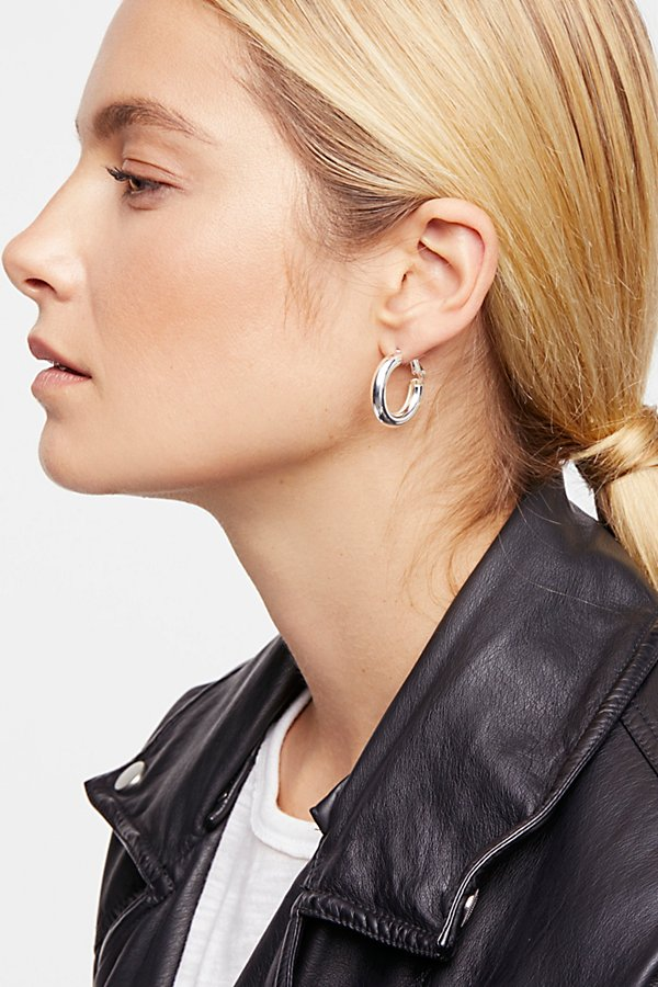 Slide View 2: Classic Tube Hoop Earring Set