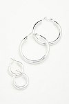 Thumbnail View 3: Classic Tube Hoop Earring Set