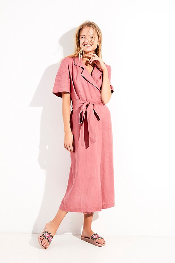 Slide View 1: Klara Wrap Midi Dress