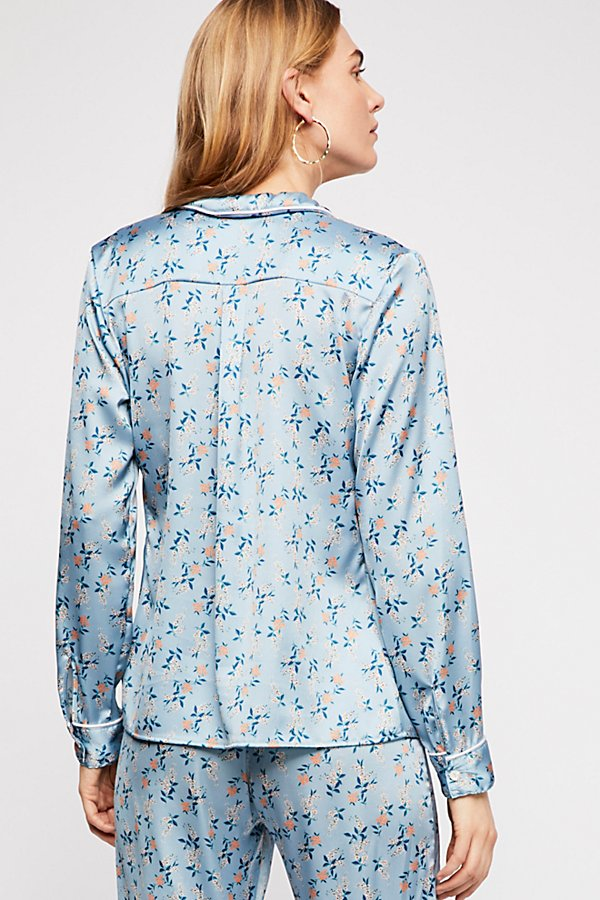 Slide View 2: Spring Bloom Piped Pyjama Shirt