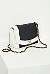 Thumbnail View 1: Vintage Chanel Black and White Quilted Crossbody