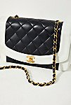Thumbnail View 2: Vintage Chanel Black and White Quilted Crossbody