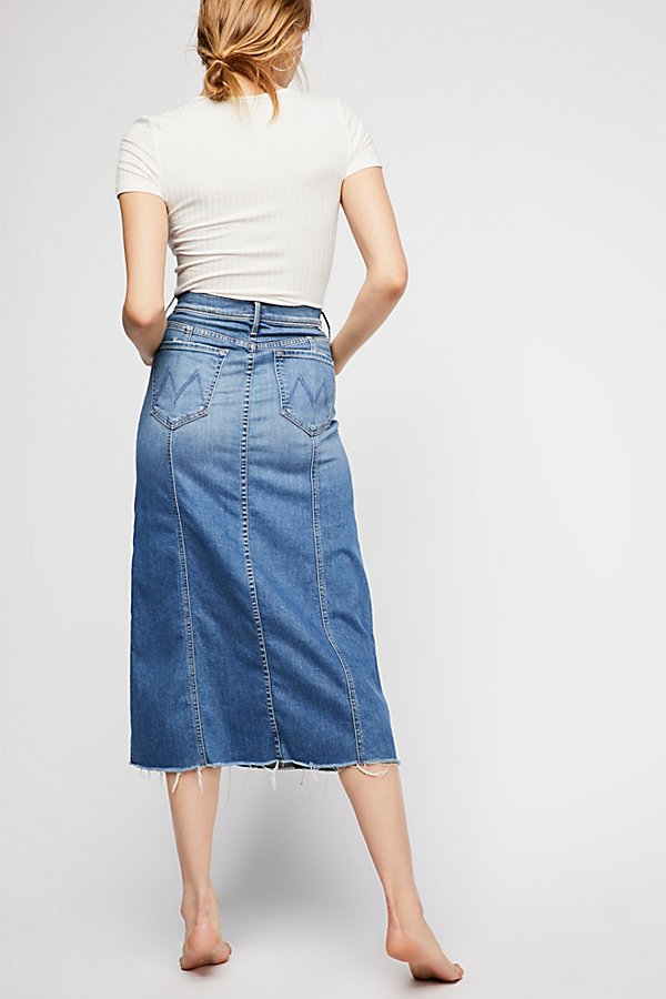 Slide View 2: MOTHER High Waisted Super Panel Fray Skirt