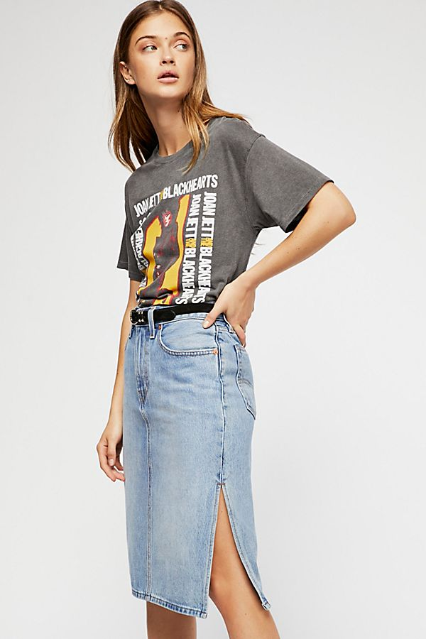 Levi s Side Slit Denim Skirt  bdf101385