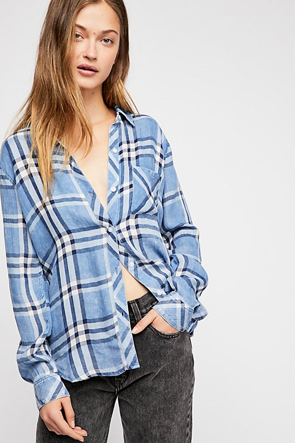 Slide View 1: Hunter Plaid Buttondown