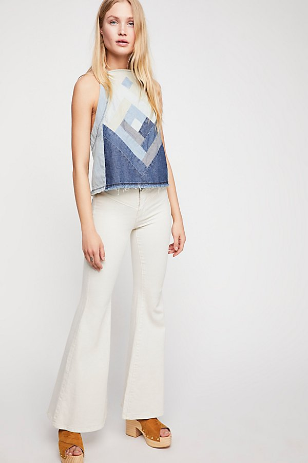 Slide View 1: Low-Rise Flare Jeans
