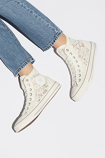 Flower Lace Hi Top Chuck Sneaker