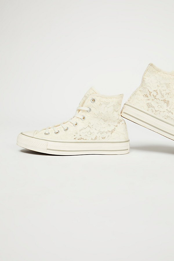 Slide View 4: Flower Lace Hi Top Chuck Sneaker