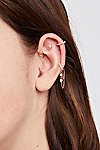 Thumbnail View 1: Four Ball Pink Diamond Threader Stud Earring