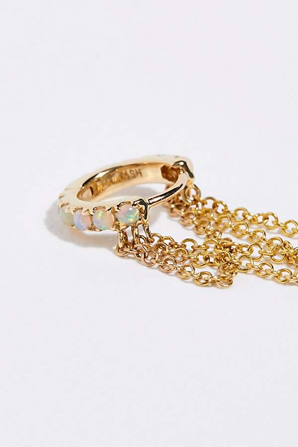 Slide View 3: Opal Eternity 3 Drape Chain Hoop Earring