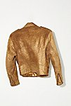 Thumbnail View 4: Vintage 1980s Gold Moto Jacket