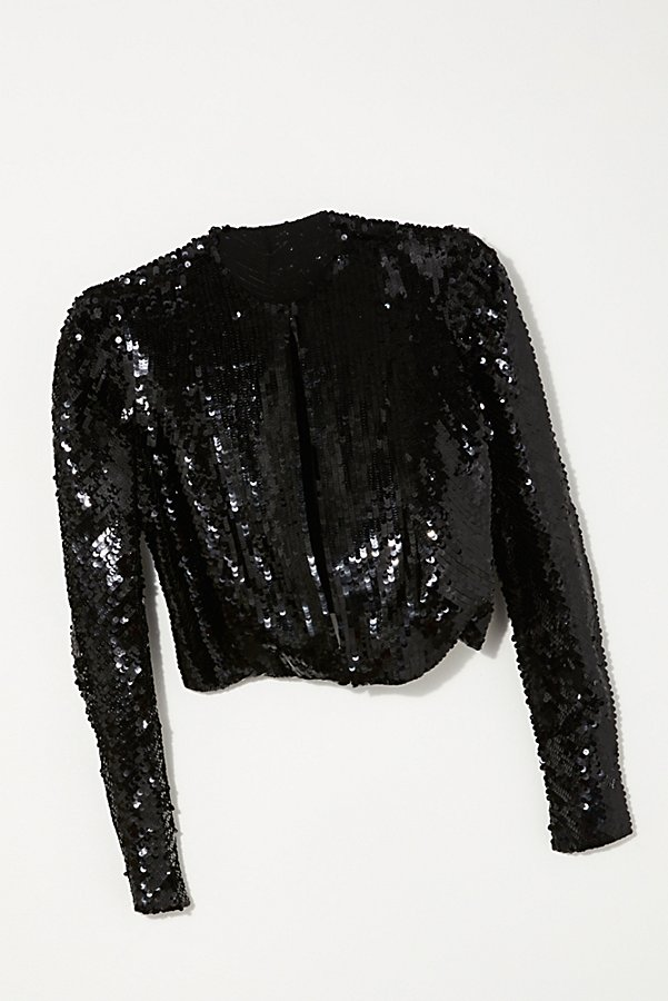 Slide View 1: Vintage 1980s Monochromatic Sequin Bolero