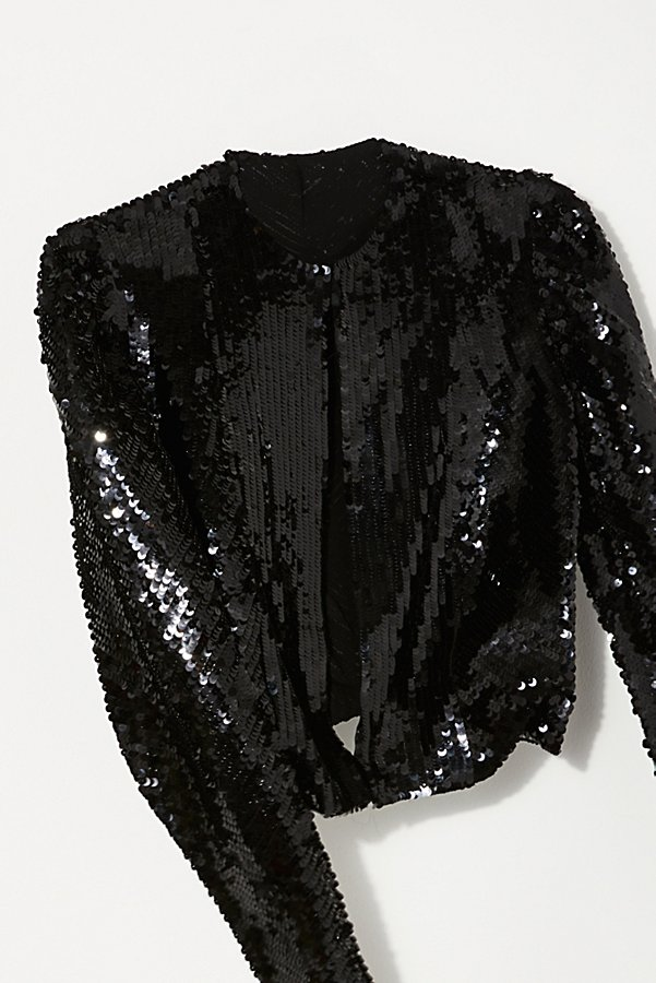 Slide View 2: Vintage 1980s Monochromatic Sequin Bolero