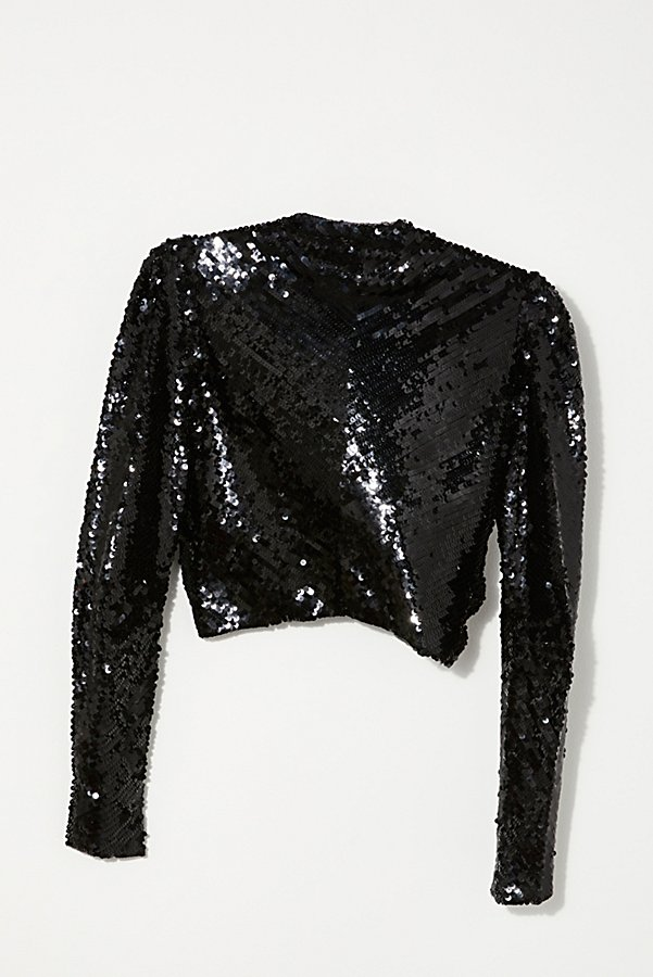 Slide View 4: Vintage 1980s Monochromatic Sequin Bolero