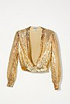 Thumbnail View 1: Vintage 1970s Gold Sequin Top