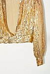 Thumbnail View 2: Vintage 1970s Gold Sequin Top
