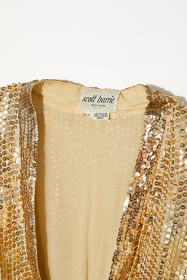 Slide View 3: Vintage 1970s Gold Sequin Top