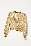 Thumbnail View 4: Vintage 1970s Gold Sequin Top