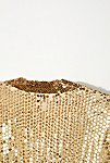Thumbnail View 5: Vintage 1970s Gold Sequin Top