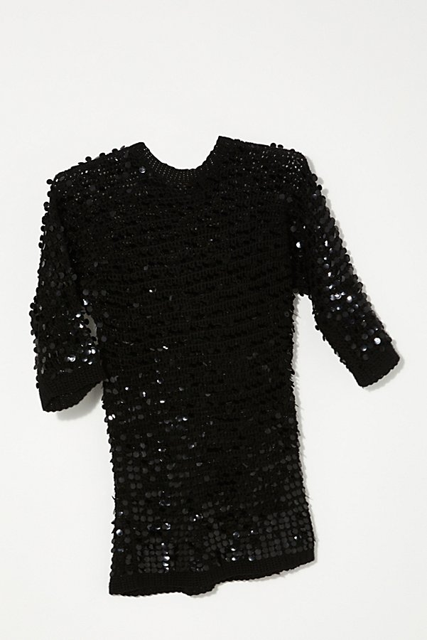 Slide View 1: Vintage 1980s Knit Sequin Tunic