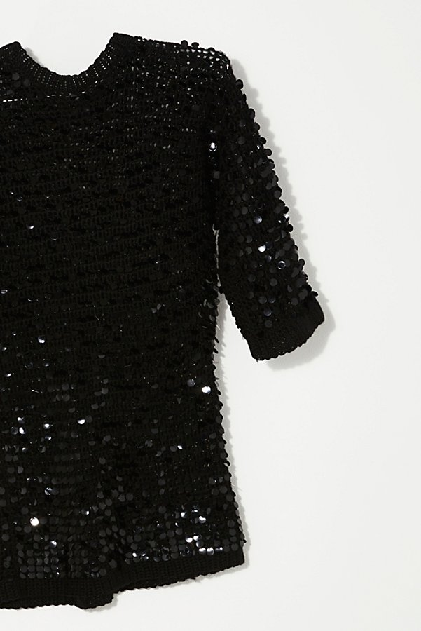 Slide View 2: Vintage 1980s Knit Sequin Tunic