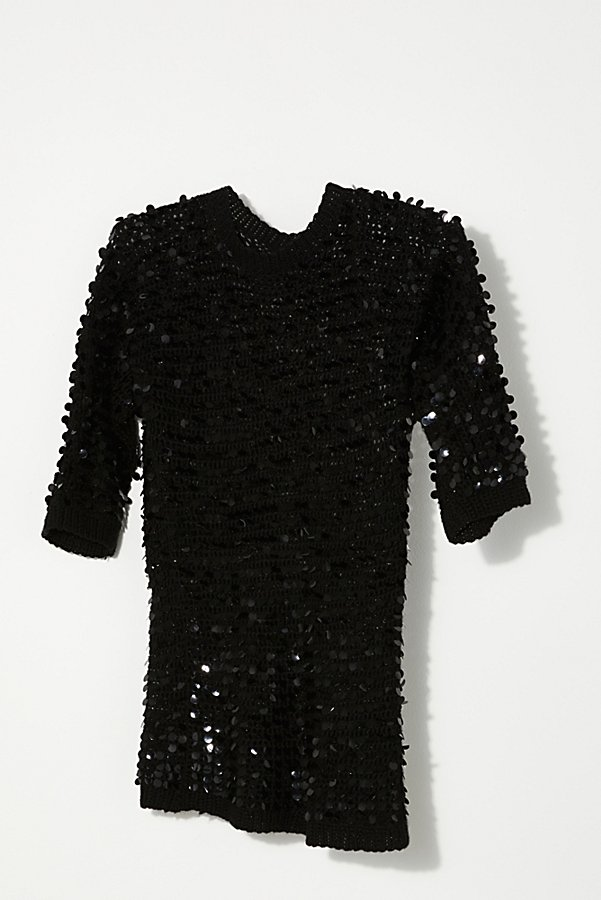 Slide View 3: Vintage 1980s Knit Sequin Tunic