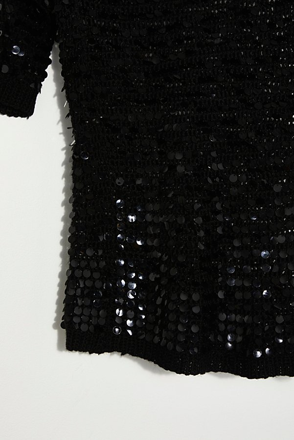 Slide View 4: Vintage 1980s Knit Sequin Tunic