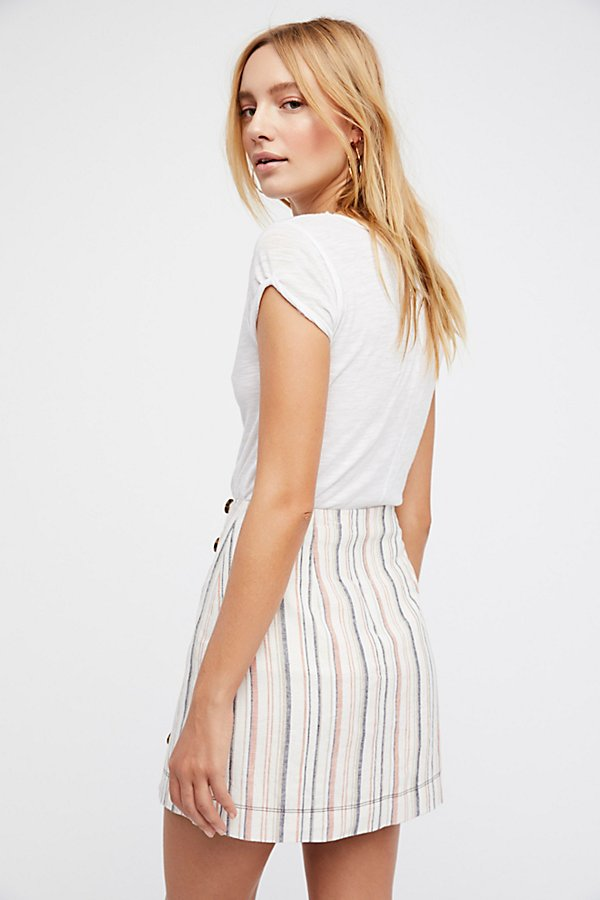 Slide View 2: Stripes On Sunday Mini Skirt