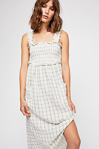 Prairie Girl Smocked Midi Dress
