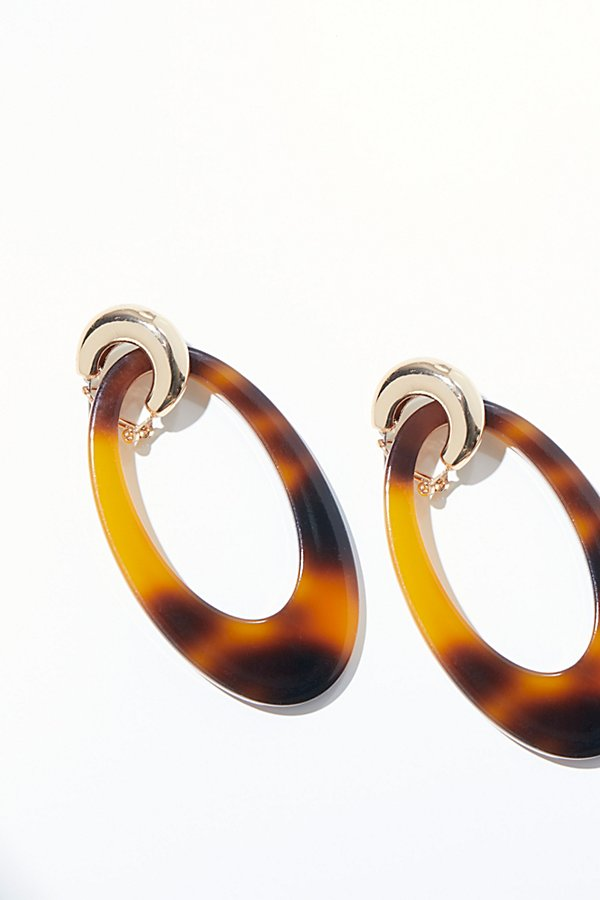 Slide View 1: Opulent Resin Hoop Earrings