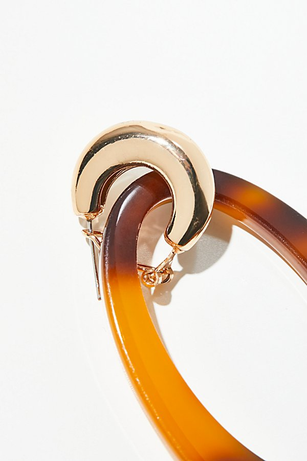 Slide View 2: Opulent Resin Hoop Earrings