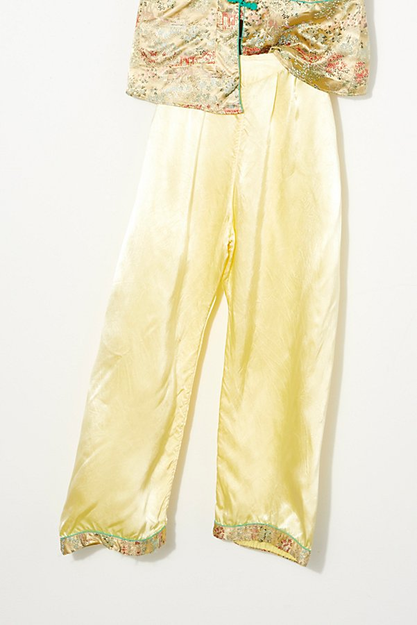 Slide View 3: Vintage 1970s Silk Pajama Set