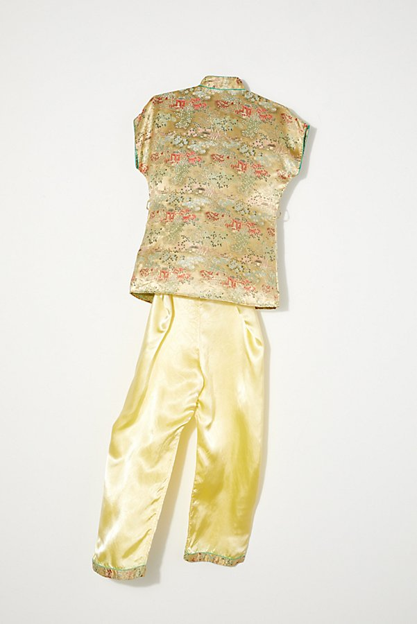 Slide View 4: Vintage 1970s Silk Pajama Set