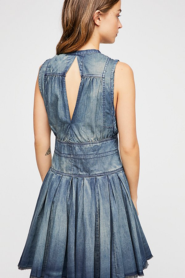 Slide View 3: FP One Celine Denim Wrap Mini Dress