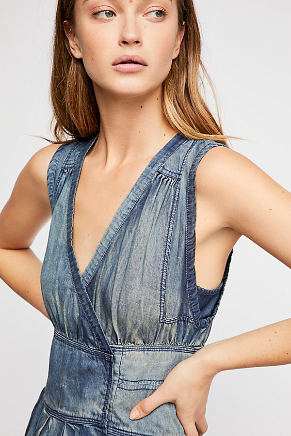 Slide View 4: FP One Celine Denim Wrap Mini Dress