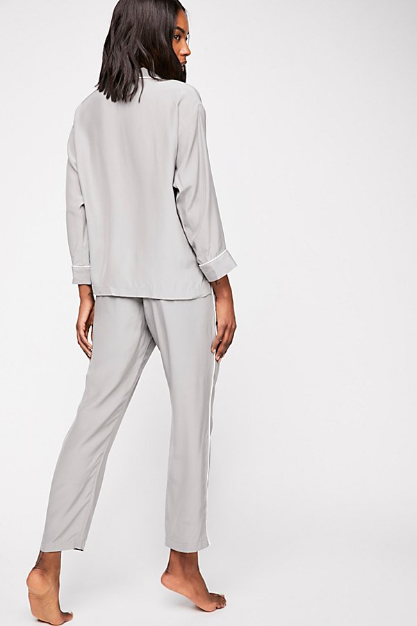 Slide View 3: Silk Marina Pyjama Trousers
