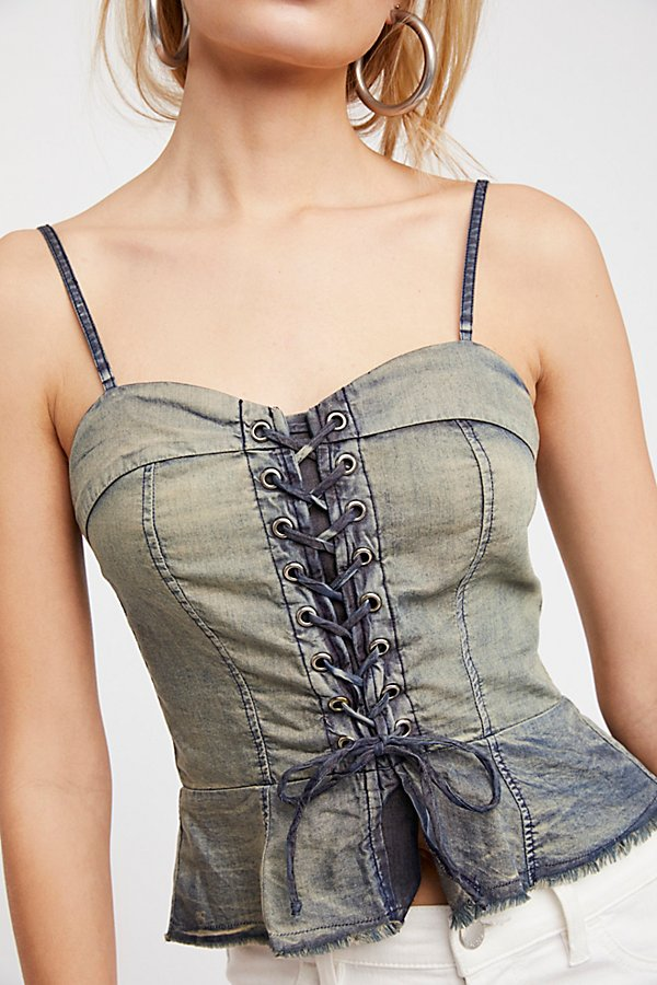 Slide View 3: FP One Sun Bleached Corset Top